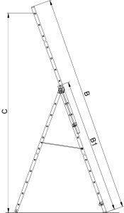 габориты трех секционной лестницы